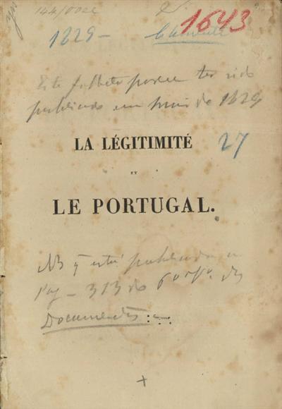 La légitimité et le Portugal, rêveries d'un portugais