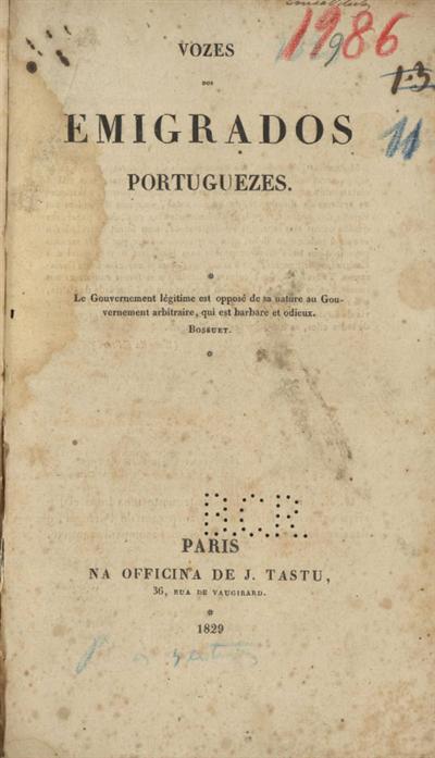 Vozes dos emigrados portuguezes