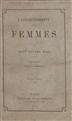 L'assujettissament des femmes [Texto impresso] / John Stuart Mill; trad.E. Cazelles