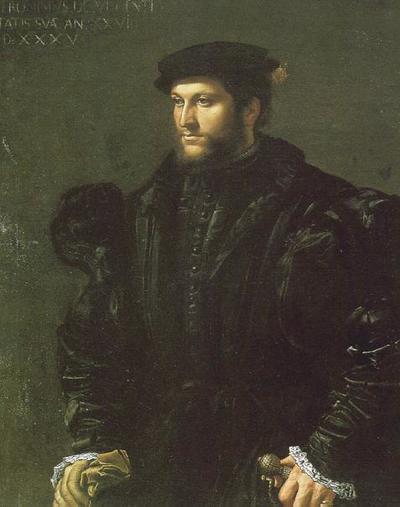 Ritratto di gentiluomo in nero [Girolamo de Vincenti?]