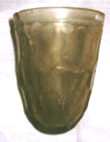 Cupă fără picior cu decor fațetat