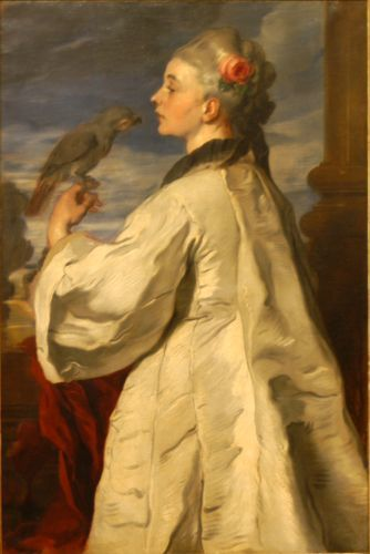 Femeie cu papagal