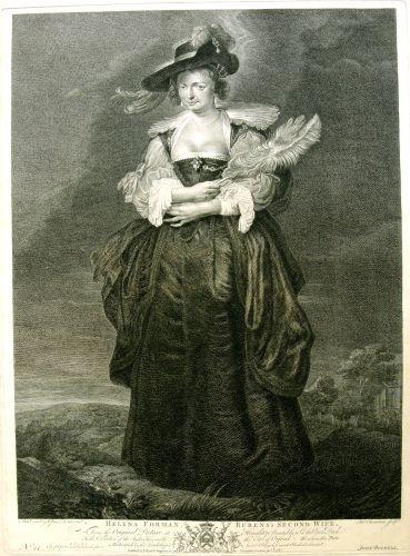 """Helena Forman Rubens' second wife; (Hélène Fourment, a doua soție a lui Rubens); în reg. inv.: """"Helene Fourment"""""""