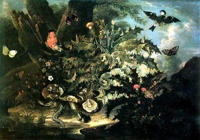 Natură moartă cu năpârcă; pandant: Natură moartă cu broască