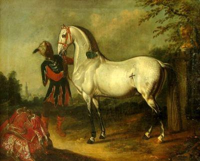 Cal bălan cu un harap