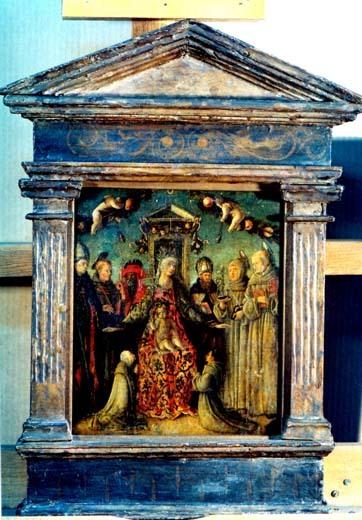 Madona cu Pruncul cu sfinți și donatori