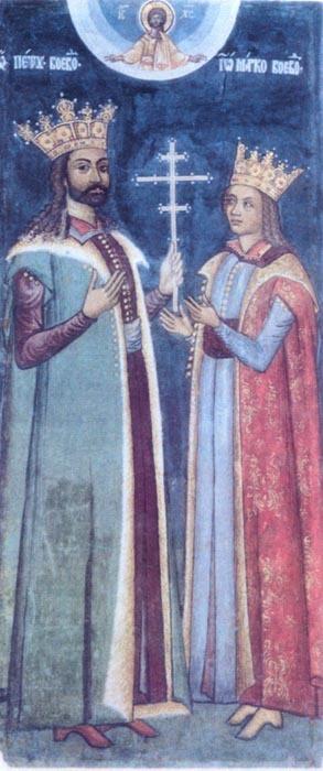 Petru voievod și fiul său Marco
