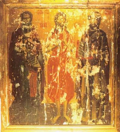 1.Sfântul Varlaam, Sfântul Alexie Omul lui D-zeu, Sfântul Ioasef; 2. Sfântul militar călare - Dimitrie
