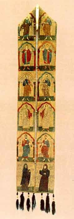 Apostoli și portretele donatorilor - Barbu Craiovescu și doamna Neagoslava