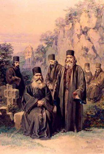 Călugări de la Mănăstirea Bistrița