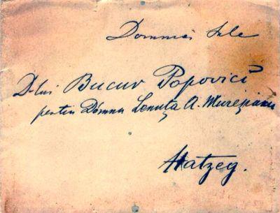 Mureșianu Aurel către soția sa, Elena