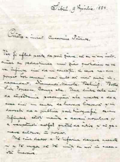 Ioan Slavici către Simion Florea Marian