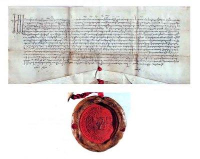 Hrisov emis de Ștefan cel Tânăr, domnul Moldovei