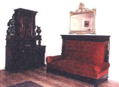 Canapea de trei locuri, cu spătar înalt
