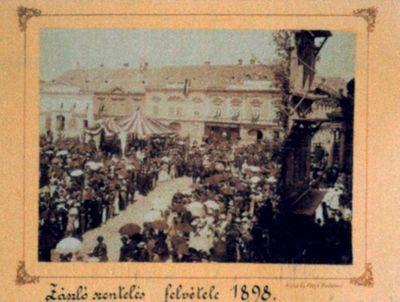 Ceremonia sfințirii steagului pompierilor voluntari din cartierul Cetate - Timișoara