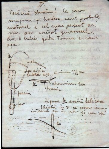 Scrisoare a lui Aurel Vlaicu către Romulus Boca