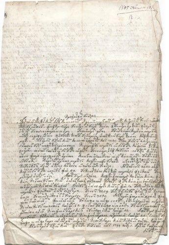 Zapisul banului Racoviță adresat lui Constantin