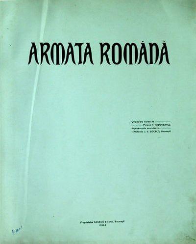 Album Armata Română 1903