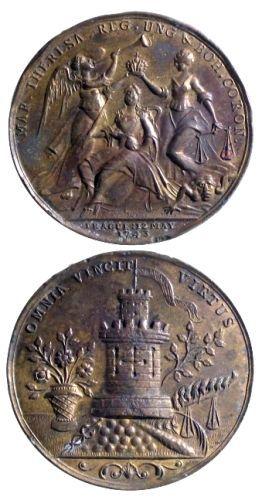 Medalie dedicată încoronării Mariei Teresia ca regină a Boemiei