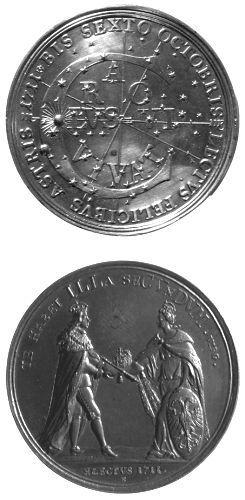 Medalie dedicată încoronării lui Carol al VI-lea ca împărat roman
