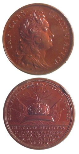 Medalie dedicată încoronării lui Carol VI ca rege al Boemiei