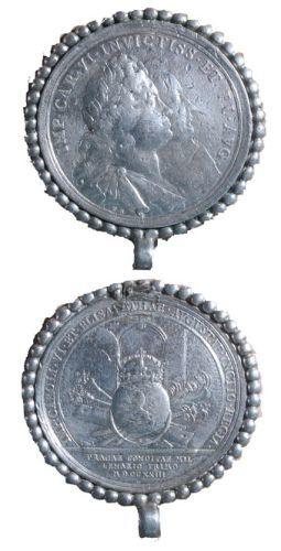 Medalie dedicată încoronării lui Carol VI și a Elisabetei Christina ca regi ai Boemiei