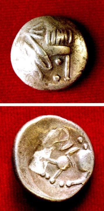 Monedă dacică - tip Vârteju-București