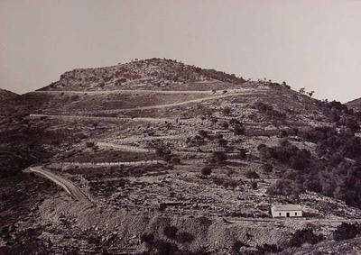 Paso del Cerro del Cuervo, carretera de Zaragoza a Castellón. Provincia de Castellón