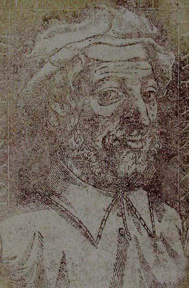 Juan de Yciar. His Portrait. From his book, Arte subtilissima por la qual se enseña a escrevir