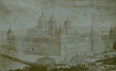 General view of San Lorenzo del Escorial. From the Colección de diferentes vistas del Real Monasterio de San Lorenzo del Escorial