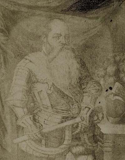 Pedro Perete. Portrait of Alarcón. From Comentarios de los Hechos del Marquess Fernando de Alarcón.  Par D. Antonio Suarez de Alarcón