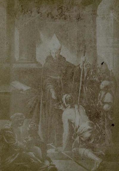 Bartolomé Esteban Murillo. St. Thomas of Villanueva, Archbishop of Valencia, giving alms at the door of his Cathedral