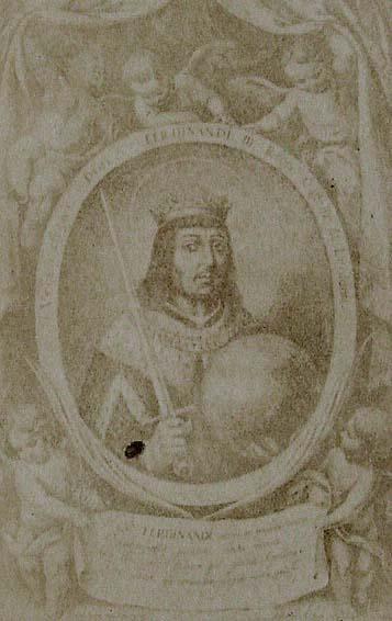 Bartolomé Esteban Murillo. St. Ferdinand. From the engraving by Mathias Arteaga in the Fiestas de Sevilla al culto concedido por el Sen. Rey San Fernando III