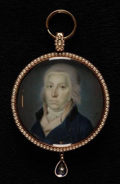 Portretminiatuur van Dirk van Hogendorp en op keerzijde Carel Sirardus Willem van Hogendorp