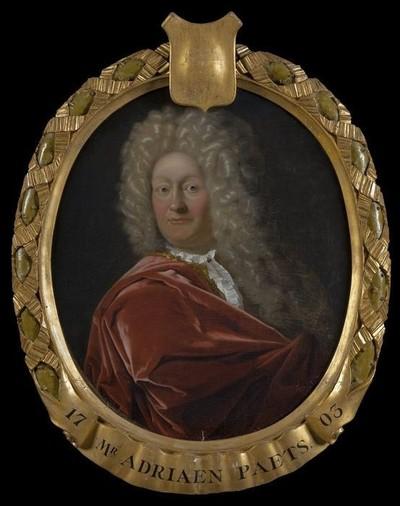 Portret van Adriaen Paets II (1657-1712), bewindhebber tussen 1703 en 1712