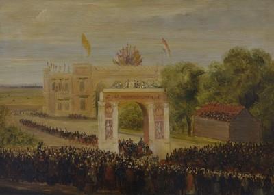 Intocht Willem III op het Hofplein