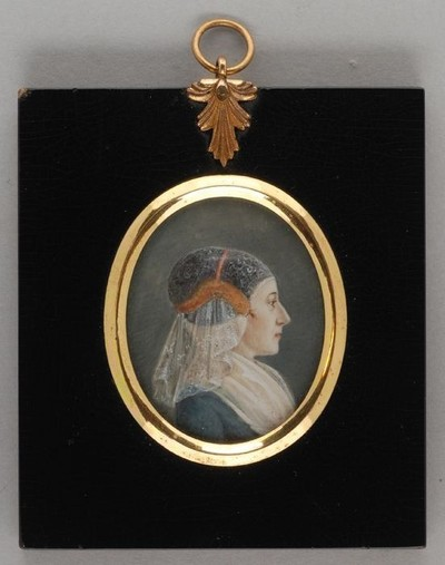 Portretminiatuur van Geertruida Wilhelmina Adriana van Hogendorp