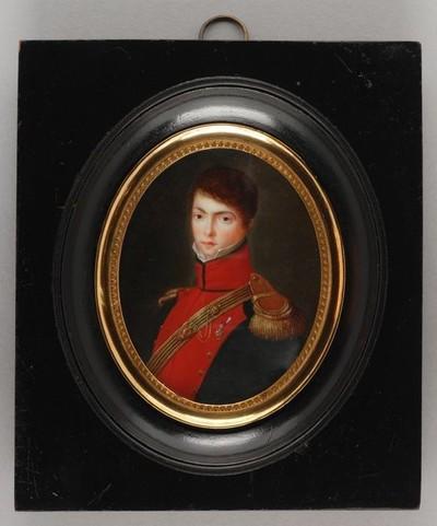 Portretminiatuur van baron Olivier junior