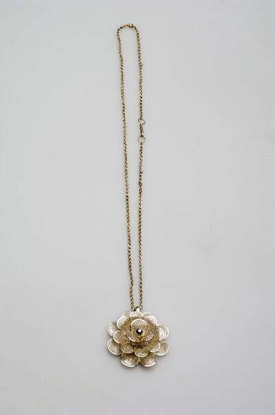 Zilveren halsketting met bijbehorende hanger