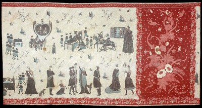 Tube skirt depicting the fairy tale 'Snow White'