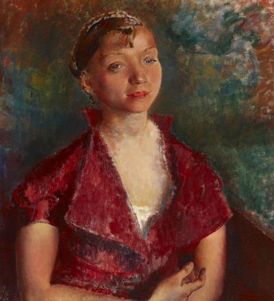 Portrait of the Artist's Sister Rachel: Rachel in a Red Dress