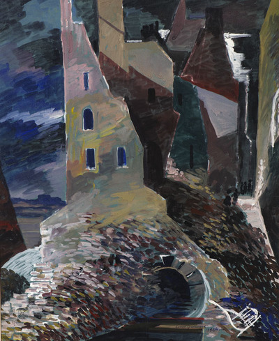Untitled (Street Scene by River)