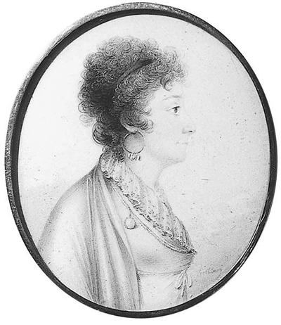 Eva Sophia Piper (1757-1816), grevinna, g von Fersen monterad tillsammans med NMB 722