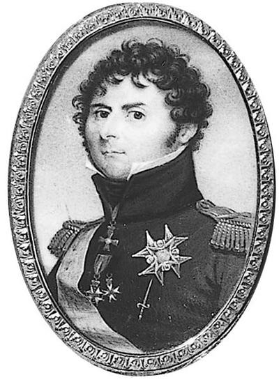 Carl XIV Johan Kopia efter porträtt av F. Gérard Kungliga Slottet i Stockholm. Monterad i samma ram som NMB 1003