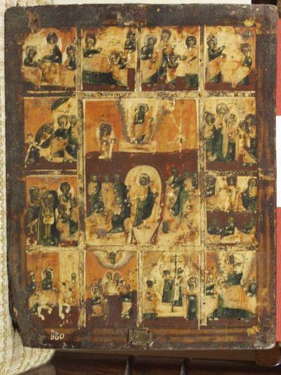 Сборна икона с празници.