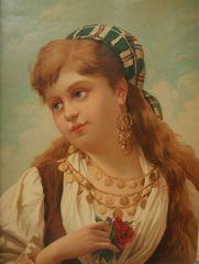 Неизвестен: Портрет на момиче.