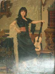 Неизвестен: Жена с китара.