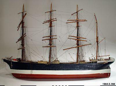 båt, modell, segelfartyg, model, boat, ship