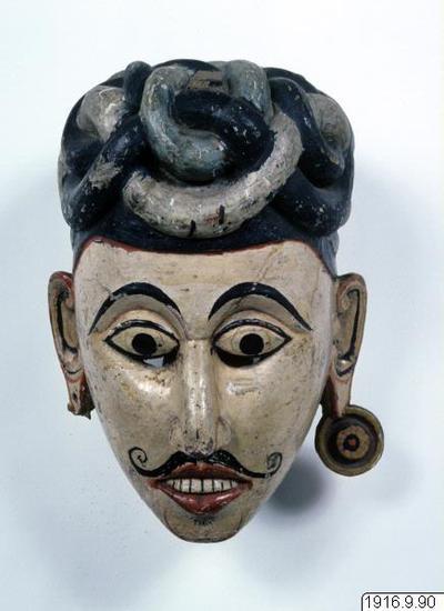 mask, Demale Kolan. (Tamildvärg)., mask