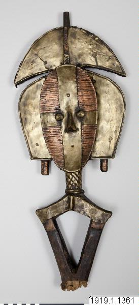 begravningsfigur, skulptur, mask, sculpture, reliquary figure, mask, mbulu-ngulu